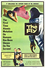 Framed Retro Movie Poster – The Fly 1958 (Replica Print Horror Cinema Film Art)