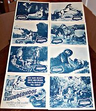 THUNDERHOOF * PRESTON FOSTER * MARY STUART WESTERN ORIG 8 CARD LOBBY SET