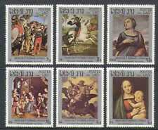 Laos 1983 Raphael/Art/Horses/St George/Dragon/Artists/Paintings/People 6v n21172