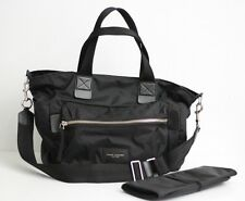 Marc Jacobs 'Biker' Nylon Weekender Baby Bag - Black / Silver Hardware