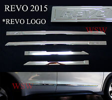 4 DR CHROME SIDE DOORS BODY MOLDING FIT TOYOTA HILUX REVO SR5 M70 M80 2015 2016