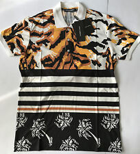 HBA_YEEZY_PYREX_JERSEY_Versace Men's Polo T-Shirt DG Tiger Stripe Palm Tree  S