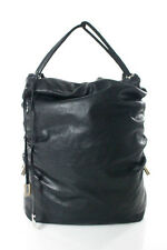 Dolce & Gabbana Black Leather Side Pull Hobo Handbag LL19LL