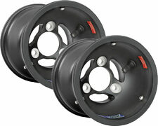 Douglas DWT Kart Magnesium 130mm Mag Black x 2 (Pair) Front Wheel