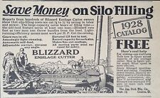 VINTAGE AD 1928 (XX50)~BLIZZARD ENSILAGE CUTTER SILO FILLER. CANTON, OHIO