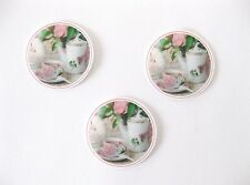 12 PRE CUT EDIBLE RICE PAPER WAFER CARD VINTAGE HIGH TEA CUPCAKE PARTY TOPPERS