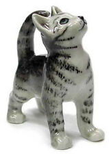 ➸ NORTHERN ROSE Miniature Figurine Grey Tiger Cat