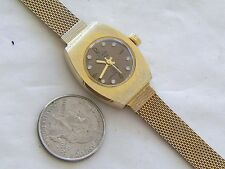 EXCELLENT SEIKO ELECTRA 360 BROWN DIAL MECHANICAL WATCH & GOLDTONE BRACELET