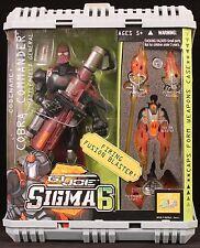 """2006 HASBRO GI JOE SIGMA 6 CODENAME COBRA COMMANDER 9"""" ACTION FIGURE MOC"""