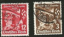 1933 Nazi Germany Stamp Set 10th An Hitler's Beer Putsch in Munich Stormtrooper