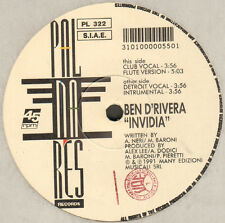 Ben D'Rivera - Invidia - 1991 Palmares Records Italy ‎- PL 322
