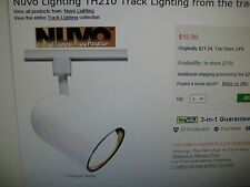 Nuvo Lighting TH210 Track Head Bullet Cylinder White R30/Par 30 long neck