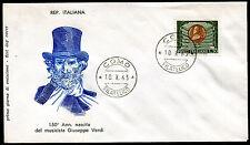 1963 - Giuseppe Verdi - n.971 -  Busta  F.D.C.