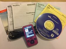Ltd PINK HANNAH MONTANA SONY NWZ-E436F 4GB DIGITAL MEDIA PLAYER MP3 MP4 WALKMAN