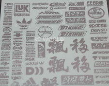 RC Car Truck RACING Drift DECALS Stickers METALLIC Aluminum Finish Logos Sponsor