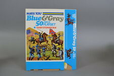 Marx Blue and Gray Playset Box -(LOOK)