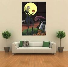 NIGHTMARE BEFORE CHRISTMAS NUOVO GIGANTE ART PRINT POSTER QUADRO muro G090