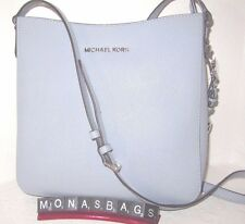 New Michael Kors Jet Set Dusty Blue Large Safiano Leather Messenger Bag  NWT$228