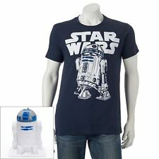 Disney Star Wars T'shirt Housed in R2D2 Mold   Large T'shirts  Men's Large  OOP