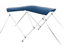 """Navy Blue 3-Bow Frame BIMINI TOP Cover Boat 6'L x 54""""H x 79""""-84""""W 1"""" Frame +Boot"""