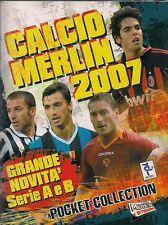 CALCIO MERLIN POCKET COLLECTION 2007 FIGURINE CALCIATORI completo perfetto