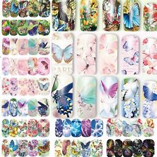 12 Sheets beauty Butterfly  Water Transfer Nail Art Stickers Decals Decoration