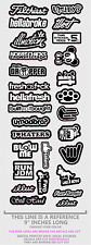 Mega Pack Lot of 27 Individual Vinyl Decal Stickers JDM Drift Stance (Megaogwht)