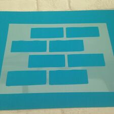 Brick Wall Stencil A6 Paint Craft Fabric  Sheet Airbrush Wall  Sign 190 Mylar