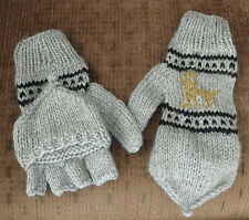 Brand New From Peru Flip Top Mittens Alpaca Llama Design Teen Adult Small #11952