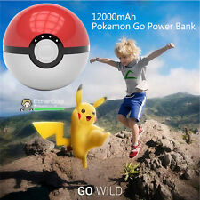 NEW MODEL 12000mAh Pokemon Go Pokeball Charger Power Bank iPhone Samsung USB