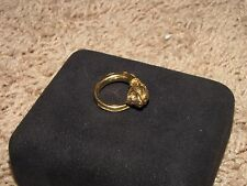 ZOLOTAS 22K Yellow Gold Size 6 Ring Lion's Head Signed