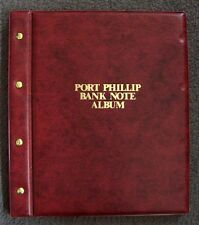 PORT PHILLIP BANK NOTE ALBUM INCLUDING 6 PAGES