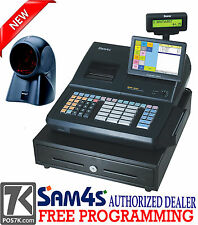 "Liquor Store SAM4S SPS-530 RT 7"" Touch Screen Cash Register with Orbital Scanner"