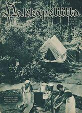 Finland Wartime Magazine Hakkapeliitta 1940 #29 - WWII - Summer Camp for Boys