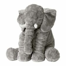 "Ikea Jattestor 23"" Large Elephant Soft Toy Stuffed Animal Plush Kids Baby NEW"