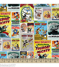 LINED VALANCE 42X12 DISNEY MICKEY MOUSE DONALD VINTAGE COMIC POSTER CARTOON