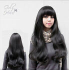 100% Real Hair! Heat Lolita Full Black Women Fashion Long Curly Hair Cosplay Wig