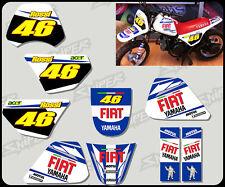 Gráfico de estilo Yamaha temprano PW50 Rossi/Calcomanía Kit Personalizado Gratis Reino Unido del envío