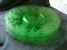 "Green Depression Glass Cameo Ballerina pattern Dinner Plate 10"" (3 available )"