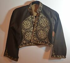 ANTIQUE 19TH C. OTTOMAN JACKET WITH HEAVY METALLIC EMBROIDERY SS595