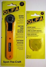 OLFA ~ 28mm Rotary Cutter ~ With A Bonus of 2 Extra Blades ~ NIP