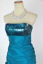New Genuine Jovani Beyond 193 Turquoise Night Out Club Mini Cocktail size 10