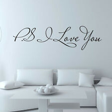 DIY Simple I Love You Removable Art Vinyl Mural Home Room Decor Wall Stickers