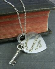 Return to Tiffany & Co. Heart Tag with Key Pendant in Sterling Silver