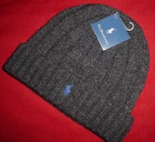 Polo Ralph Lauren Mens Skull Beanie Winter Cap Ski Hat Wool Blend New NWT