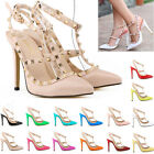 Ladies 11CM 4.5INCH HIGH HEELS POINTED CORSET STYLE WORK PUMPS COURT SHOES UK2-9