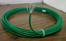 10 feet 14 AWG Silver Plated PTFE Wire Green 19 strand