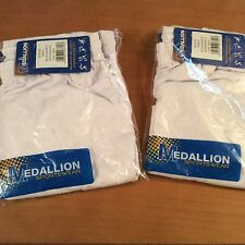 2 pairs Medallion Boys School / Track Shorts White waist 30in / 32in