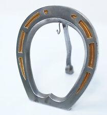 Schöner Taschenuhren-Halter, Uhrenständer, Metall, Hufeisenform, 10x13 cm. (B)