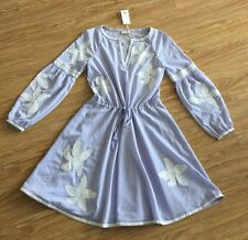 BNWT Tory Burch LAVENDER Sadie Embroidered Peasant Dress! Size 4! SUPER HOT ITEM